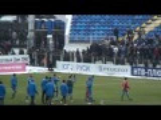 Файер-шоу Ростов-Амкар-1:1. Фанаты футбола.