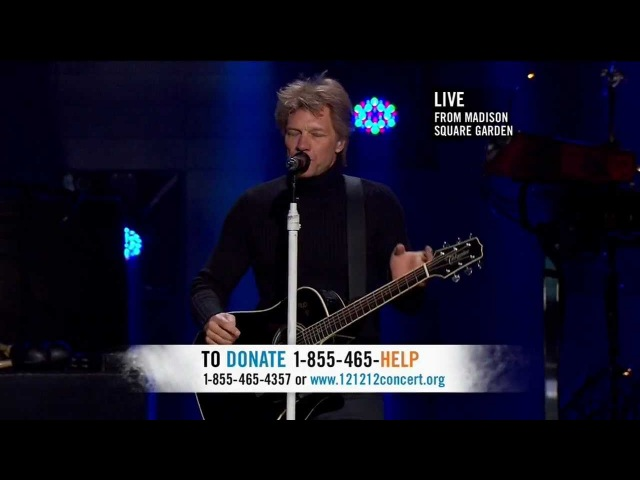 Bon Jovi Wanted Dead Or Alive Live At Concert For Sandy Relief Madison Square Garden