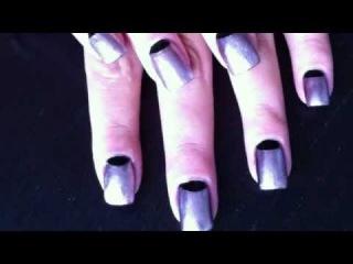 Half Moon manicure tutorial - Dita Von Teese & Rihanna Nails