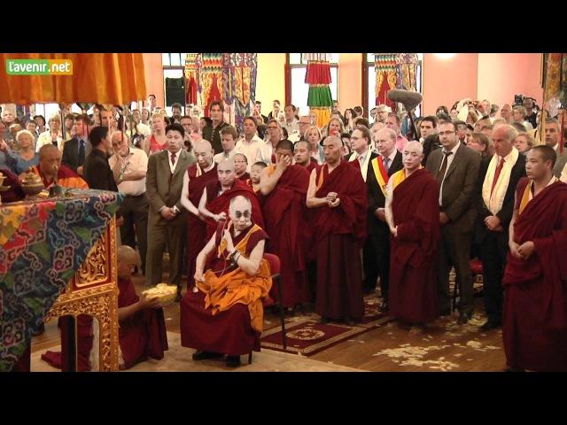 L'Avenir - Huy - Cérémonie de bénédiction du temple tibétain par le Dalai Lama