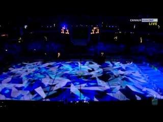 чемпионат мира по хоккею с шайбой 2012 Хельсинки. открытие.световое шоу