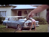Sexy girl washing car....