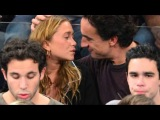 Mary-Kate Olsen and Boyfriend Olivier Sarkozy Get Cozy at New York Knicks Game