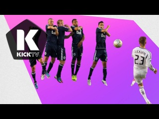 Beckham GOAL! Free Kick Bender: Galaxy vs Whitecaps Highlights 9/1/2012