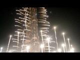 (HD) New Year Celebrations -Spectacular fireworks at Burj Khalifa 2012 , United Arab Emirates
