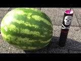 Polenböller vs. Wassermelone