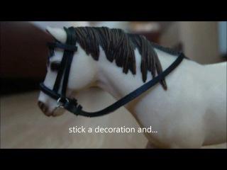 Как сделать уздечку на игрушечную лошадь