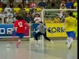 Amazing Futsal Rabona Golazo! Diego Zuniga (Costa Rica) vs Brazil