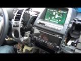 Установка yatour (снятие магнитолы) - Toyota Prius 2004-2009 with MFD display iPod, iPhone and AUX adapter installation