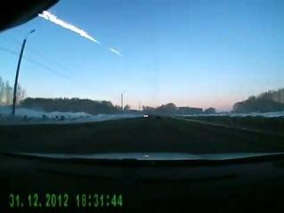 Вспышка над Челябинском (с регистратора)