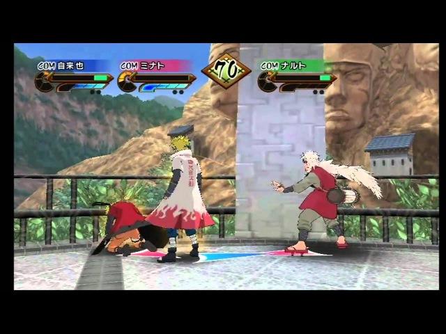 Naruto Shippuden Gekitou Ninja Taisen Special Wii Senjutsu Master 3 Way