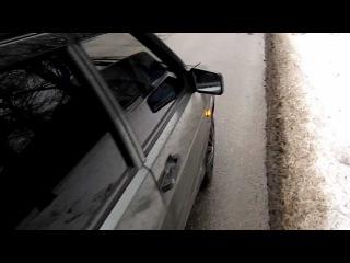 Пьяный ГАИшник спит за рулем Запорожье