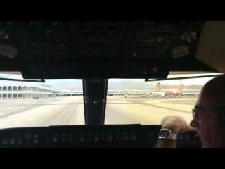 Посадка самолета, вид из кабины пилота.mp4