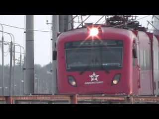 Шереметьево Аэроэкспресс Electric train Moscow - Sheremetyevo MOW - UUEE