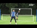 Tottenham Hotspur players Brad Friedel and Carlo Cudicini warm up in training