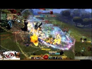 Red Guard GvG Liryc Warrior.Guild Wars 2 Wvwvw Gandara vs Piken Square vs Augury Rock matchup
