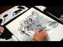 Anna Banana shows you how to draw and paint a Snow Leopard - Anna Rees Art