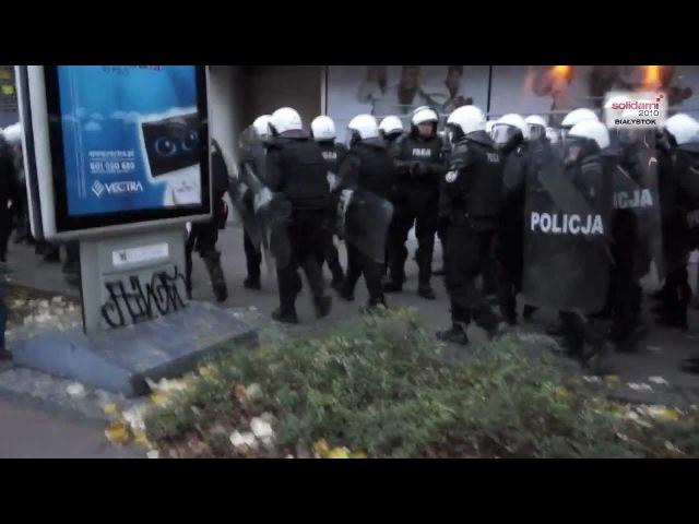 Ogromne siły policyjne wyprowadzone na ulice Warszawy Demonstracja sił i prowokacja policji cz I