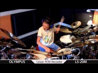 08.08.12. IGOR FALECKI drummer ,sabian ,improv ,open - handed, 10 y old