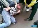 зверская драка с полицейским