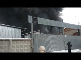 Тюмень: пожар на базе ММС