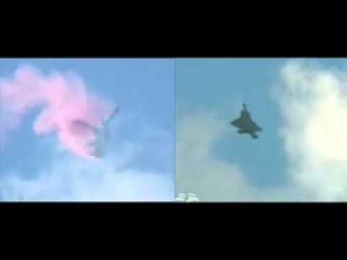 Su-30 amp F-22 airshow maneuvers Sync.avi