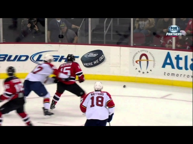 Colby Robak crosschecking major on Tim Sestito Mar 23 2013 Florida Panthers vs NJ Devils NHL Hockey