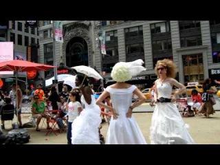 прогулка по тайм сквер Манхеттен Нью Йорк 4 июня 2011