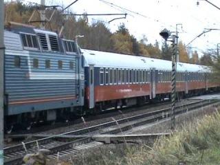 Электровоз ЧС7-021 с поездом №9 Москва-Варшава l ОАО