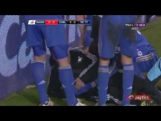 Eden Hazard kicks ball boy 2013