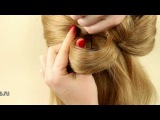 Бант из волос (вариант 1)