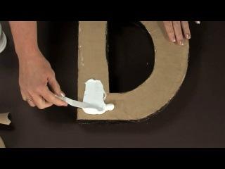 Как сделать объемные буквы для свадебной фотосессии: МК