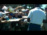 Michael Jordan signing autographs for free for fans at Lake Tahoe 2012 golf tournament