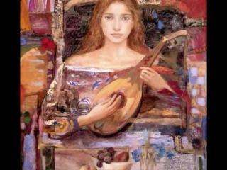 Ангел играет на лютне. поёт Эстер Офарим/ Esther Ofarim/, живопись - Гойо Домингес/Испания/
