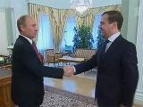 Проект бюджета на 2013 год и плановый период до 2015 года В.Путин обсудил с Д.Медведевым - Первый канал