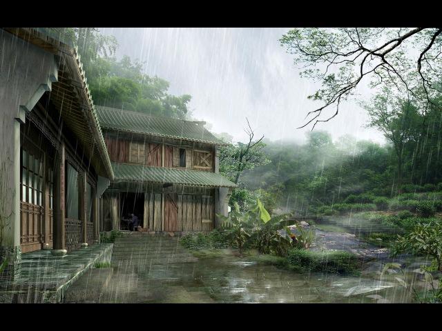 Nature Sounds Звуки природы Ливень Дождь и Гром Rain and Thunder