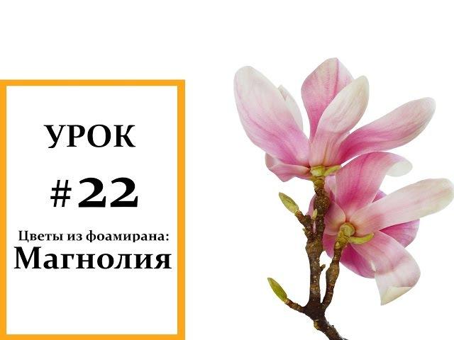 Магнолия мастер класс, Фоамиран цветы, Мастер класс из фоамирана Foam Flouwers