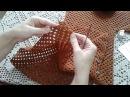 Кардиган из шестиугольников Часть 2 Формирование полочек и спинки Knitting women's cardigan