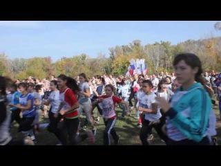 1 500 школьниц бегут Кросс Нации 2016. Оренбург