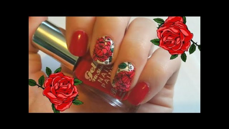2015 Autumn/Fall Rose Nail Art - MoYou London - Advanced Nail Stamping for Beginners