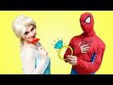 Elsa Becomes Superhero Spiderman! w/ Frozen Elsa Hulk Iron Man Toys Superheroes Fun