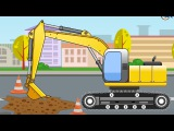 Cars & Trucks Cartoons for kids: The Excavator | Videos for children
