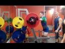 Дмитрий Максимов. 20 лет, КМС. Присед 270, 280, попытка на 290. Собственный вес 75 кг