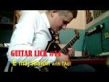 Guitar Lick #14 E maj fusion