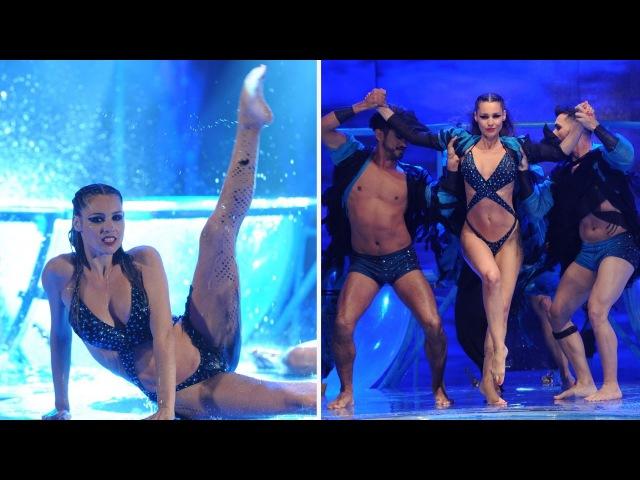 ¡Pampita brilló con una especial apertura del Aquadance!