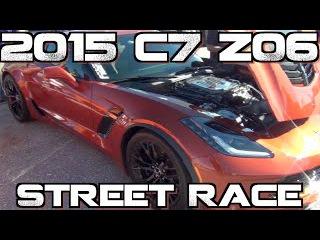 Modded 2015 Corvette C7 Z06 street races 2014 Viper TA