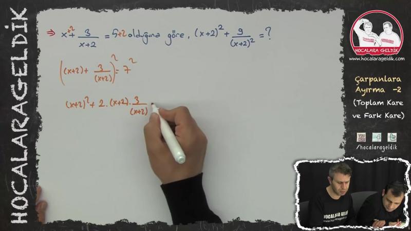 Çarpanlara Ayırma -2 (Toplam Kare ve Fark Kare) - Matematik - Hocalara Geldik