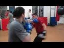 Школа бокса и кикбоксинга Андрея Рябченка ( тренировочный процесс - отработка серий ударов)