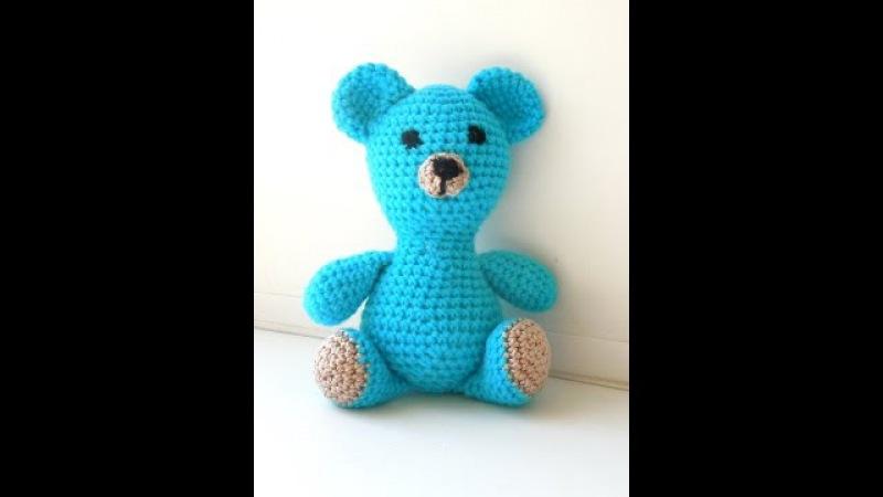 Как связать мишку крючком. Медвежонок амигуруми. Bear crochet.