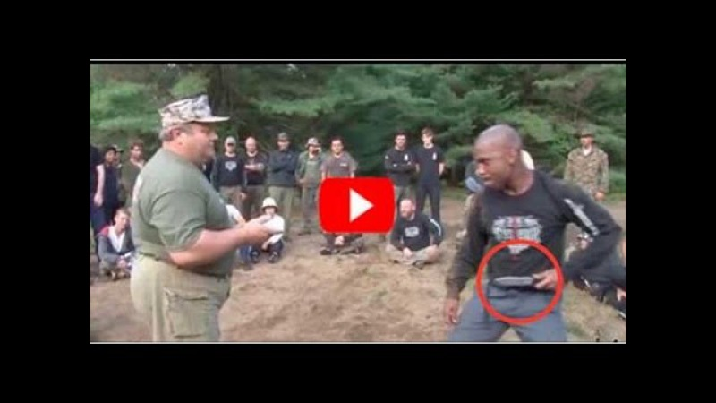 Russian SPETSNAZ Martial Art - Colonel Mikhail Ryabko (Possession of a knife)